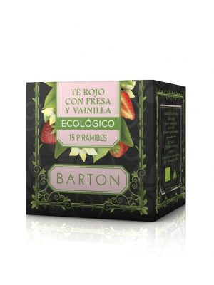 Té Rojo Fresa Vainilla Infusión Ecológica en Pirámides :: Barton online