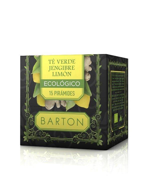 Té Verde Jengibre Limón Infusión Ecológica Pirámides :: Barton Online