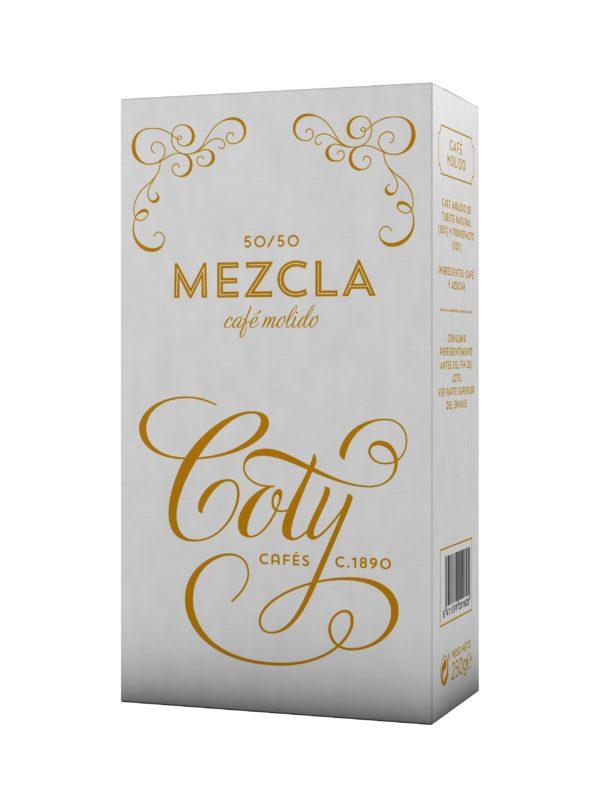Coty Café Molido Mezcla 50/50 :: Cafés Toscaf Tienda Online