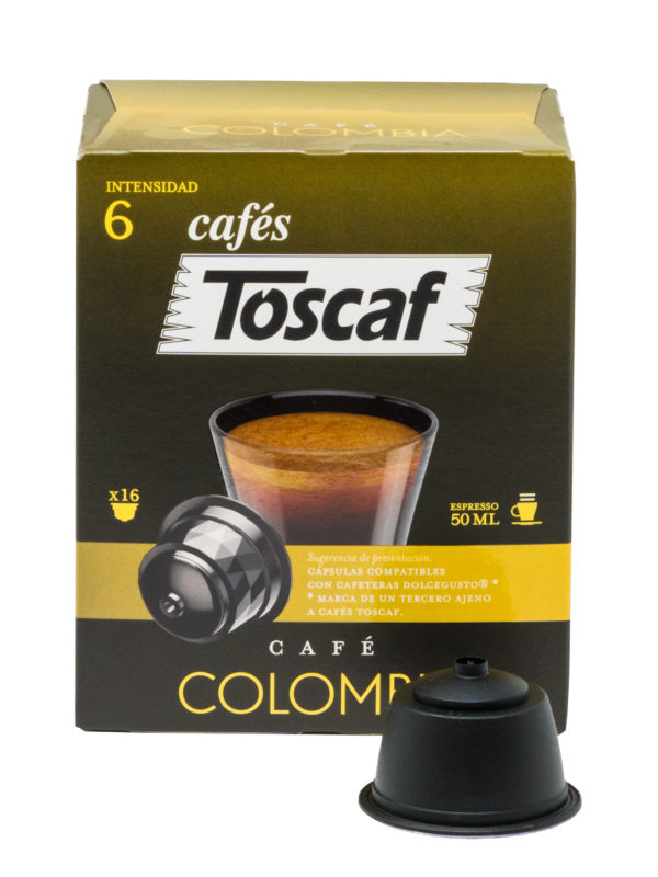 Cápsulas Café Colombia 16u :: Cafés Toscaf