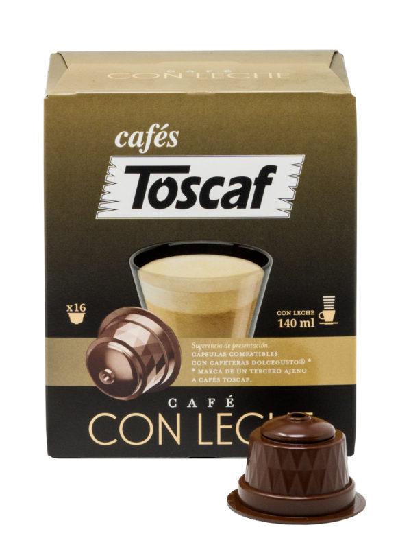 Cápsulas Café Con Leche 16u :: Cafés Toscaf